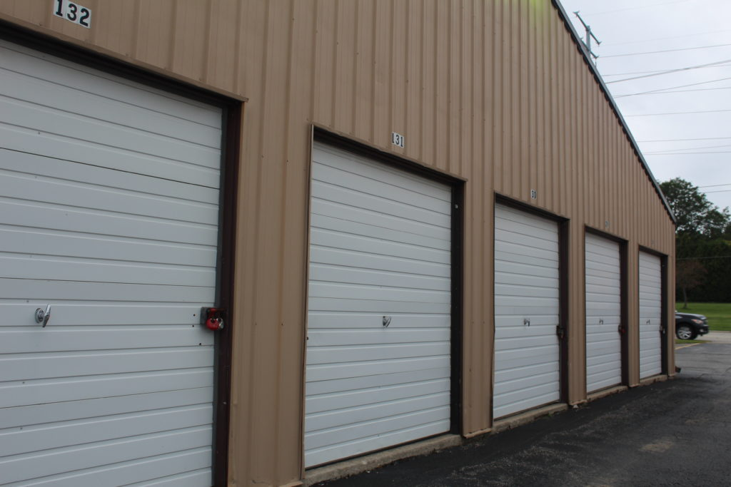 exterior shot of storage units